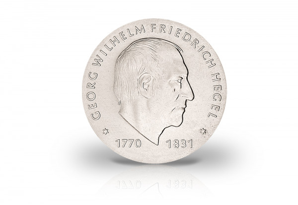 10 Mark Gedenkmünze 1981 DDR Hegel Jaeger-Nr. 1581