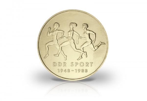 10 Mark Gedenkmünze 1988 DDR Turn Sportbund der DDR Jaeger-Nr. 1623