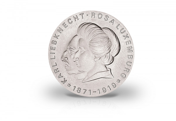 20 Mark Gedenkmünze 1971 DDR Liebknecht, Rosa Luxemburg Jaeger-Nr. 1533