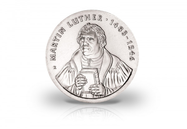 20 Mark Gedenkmünze 1983 DDR 500. Geburtstag Martin Luther Jaeger-Nr. 1591