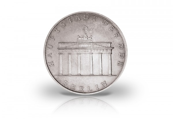 5 Mark Gedenkmünze 1971-1990 DDR Brandenburger Tor Jaeger-Nr. 1536