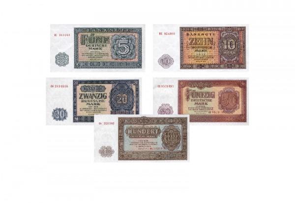 DDR Banknotensatz 1955