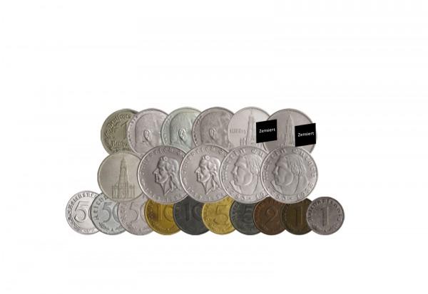 Komplettsammlung 21 Münzen Drittes Reich Jaeger-Nr. 352-372