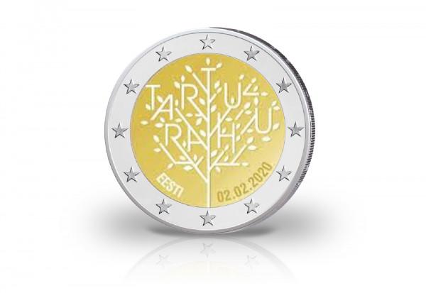 2 Euro 2020 Estland 100 Jahre Frieden von Tartu