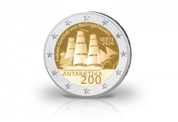 2 Euro 2020 Estland 200 Jahre Entdeckung Antarktis