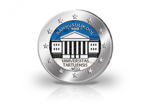 2 Euro 2019 Estland 100 Jahre Universität Tartu mit Farbmotiv