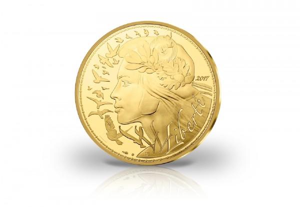 5000 Euro Goldmünze 2017 Frankreich Marianne - Freiheit st