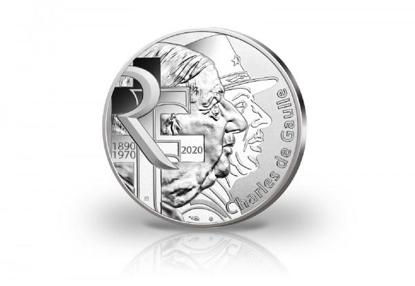 100 Euro Silbermünze 2020 Frankreich Charles de Gaulle st