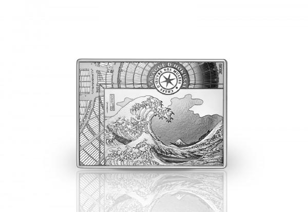 10 Euro Silbermünze 2020 Frankreich Die große Welle vor Kanagawa PP