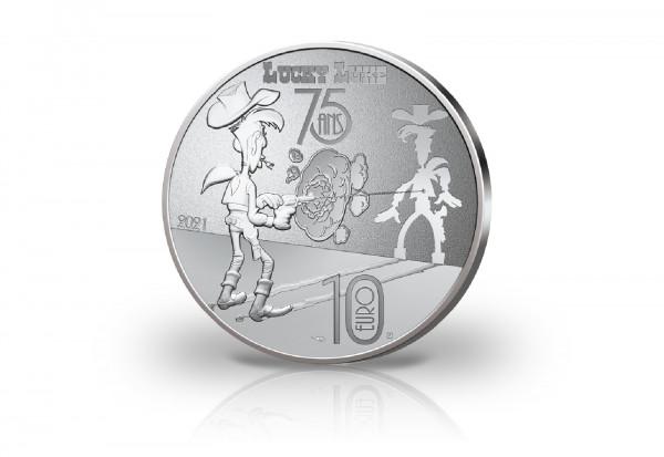 10 Euro Silbermünze 2021 Frankreich Lucky Luke PP im Etui