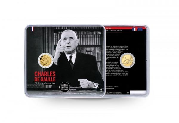 2 Euro 2020 Frankreich Charles de Gaulle st im Blister