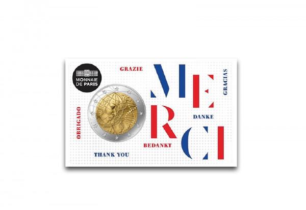 2 Euro 2020 Frankreich Medizinische Forschung Merci st in Coincard