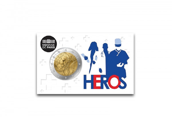 2 Euro 2020 Frankreich Medizinische Forschung Heros st in Coincard