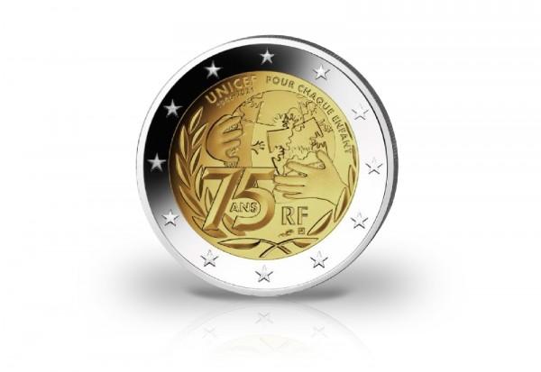 2 Euro 2021 Frankreich 75 Jahre UNICEF