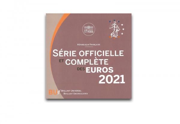 Kursmünzensatz 2021 Frankreich st im Blister