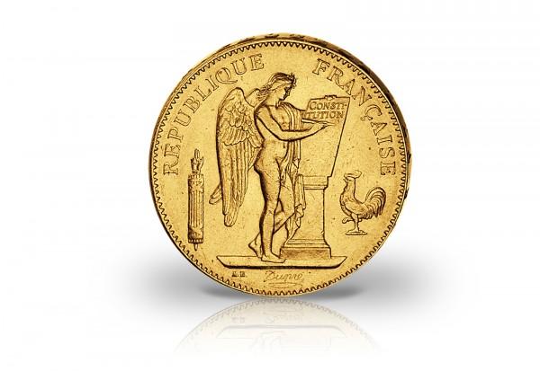 50 Francs Goldmünze 1904 Frankreich Genius stehender Engel