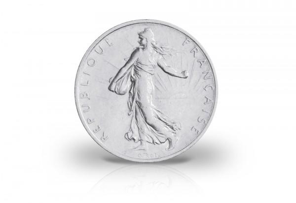 Frankreich 1 Francs Silber Säerin vor aufgehender Sonne 1898-1920