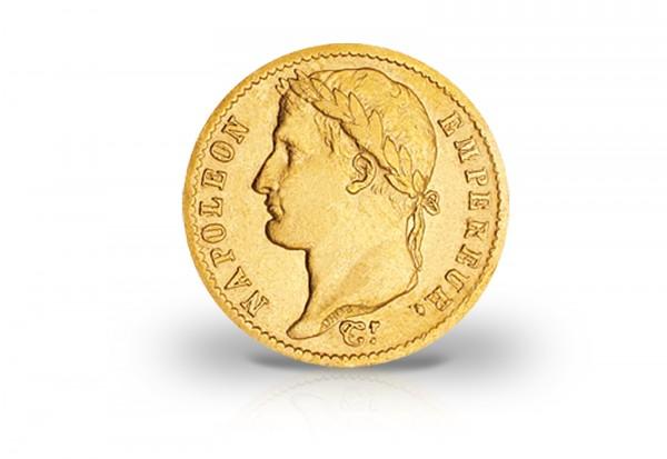 20 Francs Goldmünze 1809-1813 Frankreich Napoleon I. mit Kranz