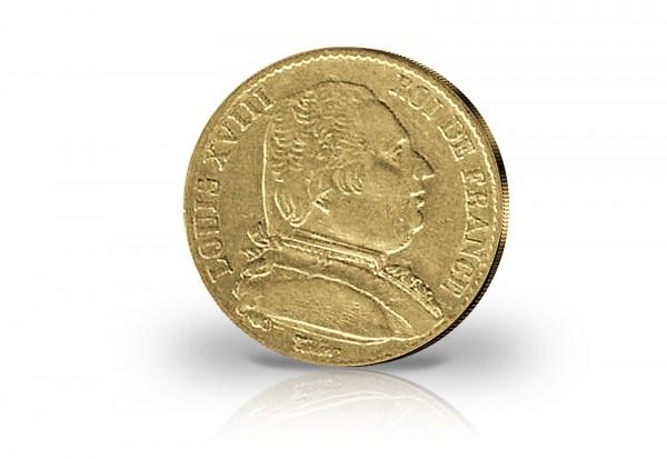 20 Francs Goldmünze 1814-1824 Frankreich Ludwig XVIII.