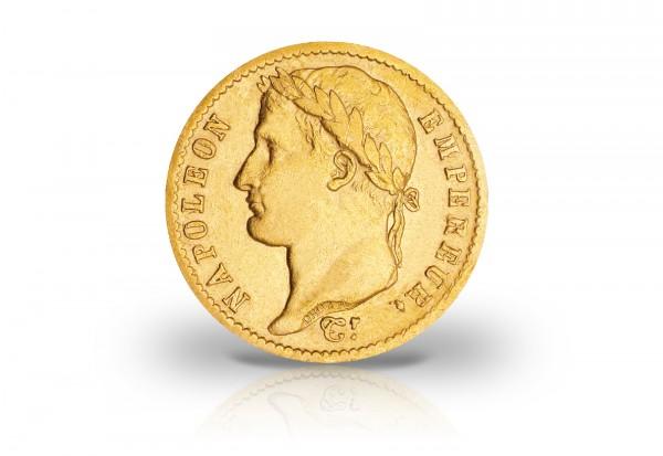 20 Francs Goldmünze 1807-1808 Frankreich Napoleon I. mit Kranz