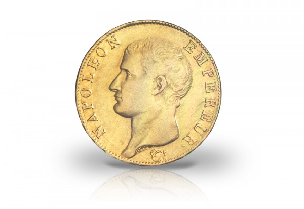 40 Francs Goldmünze 1804-1807 Frankreich Napoleon I. ohne Kranz