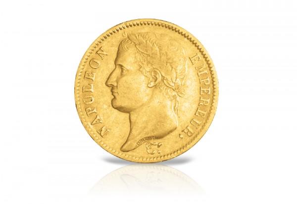 40 Francs Goldmünze 1809-1813 Frankreich Napoleon I. mit Kranz