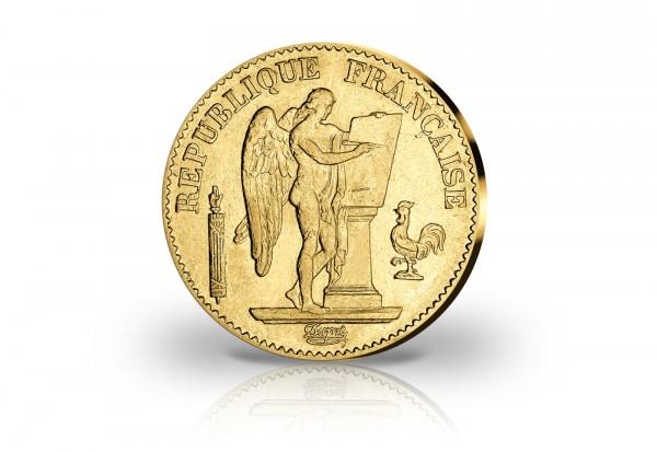 50 Francs Goldmünze 1878-1904 Frankreich Genius stehender Engel