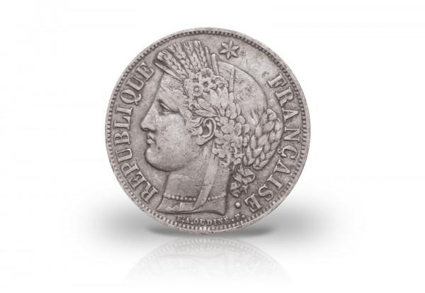 5 Francs Silbermünze 1849-1851 Frankreich II. Republik Cereskopf
