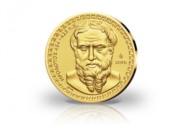 200 Euro Goldmünze 2018 Griechenland Herodot PP im Etui