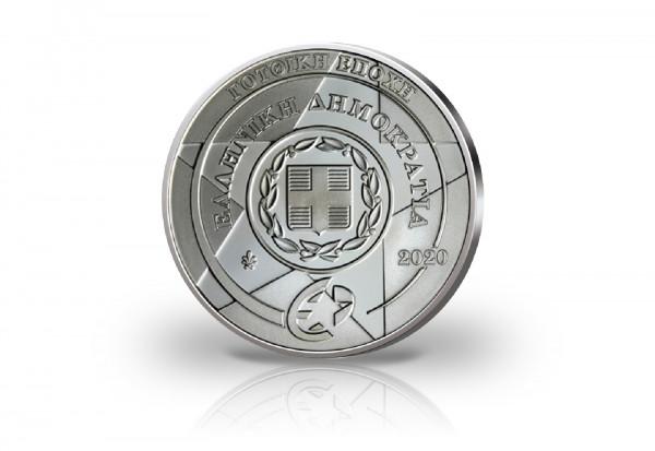 10 Euro Silbermünze 2020 Griechenland Europastern Gotik PP im Etui