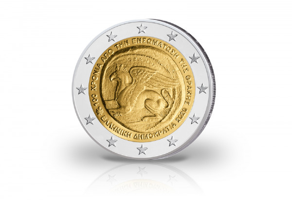 2 Euro 2020 Griechenland 100 Jahre Vereinigung Thrakiens mit Griechenland