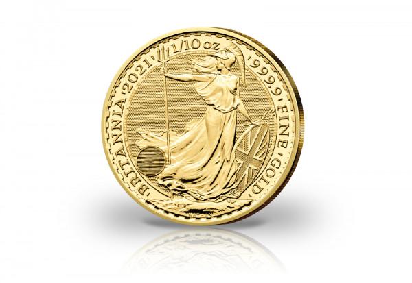 Britannia 1/10 oz Gold 2021 Großbritannien