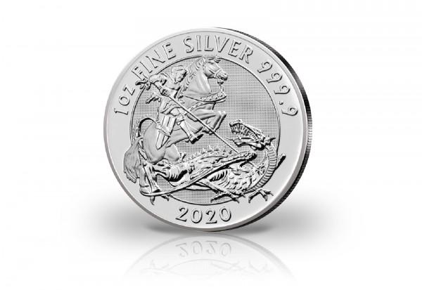 Drachentöter 1 oz Silber 2020 Großbritannien