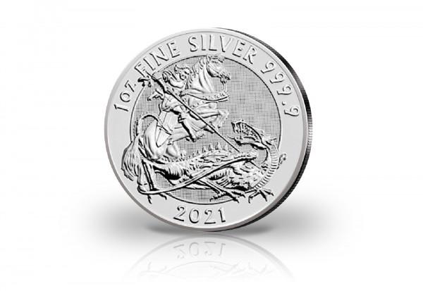 Drachentöter 1 oz Silber 2021 Großbritannien