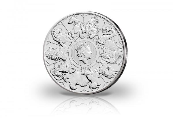 The Queens Beasts Serie 2 oz Kupfer-Nickel 2021 Großbritannien Completer Coin