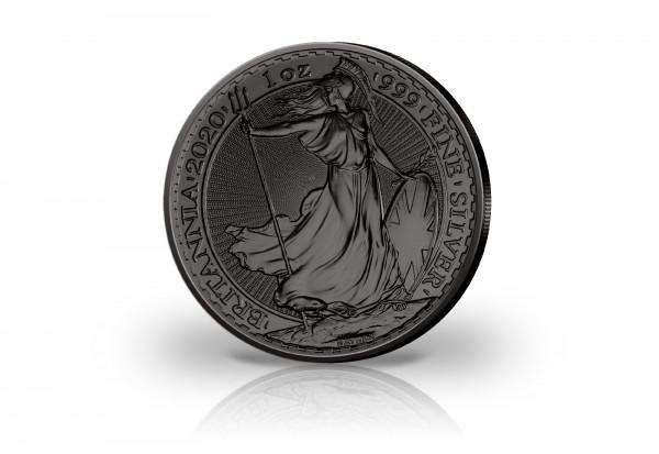 Britannia 1 oz Silber 2020 Großbritannien veredelt mit Ruthenium