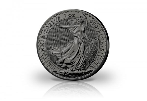 Britannia 1 oz Silber 2021 Großbritannien veredelt mit Ruthenium