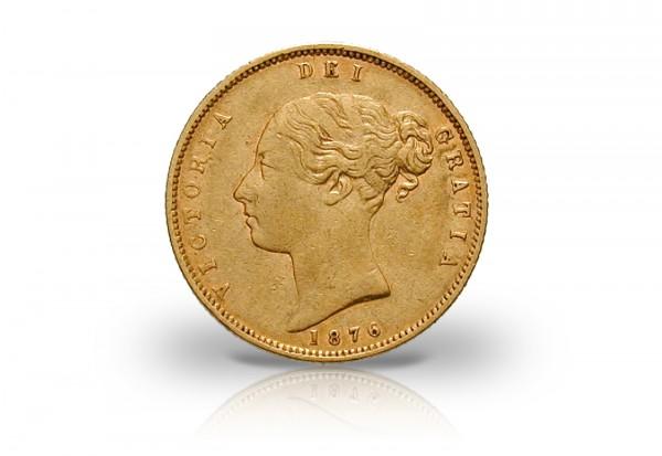 1/2 Sovereign Goldmünze 1838-1880 Großbritannien Victoria mit Wappen