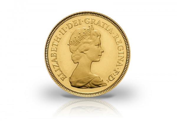 1/2 Sovereign Goldmünze 1980-1984 Großbritannien Elisabeth II.
