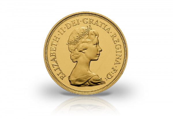 1 Sovereign Goldmünze Großbritannien Jahrgang unserer Wahl Elisabeth II.