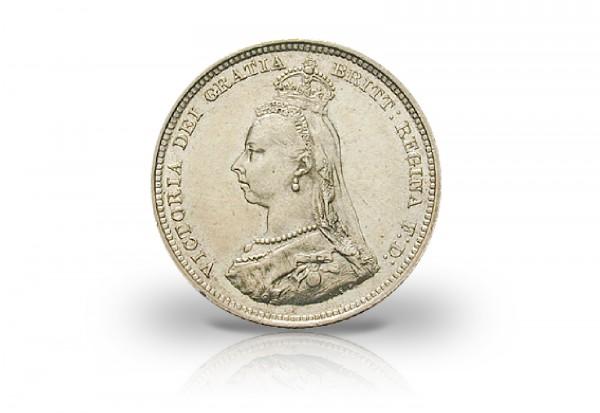 1 Schilling 1887 Großbritannien 50. Thronjubiläum Queen Victoria