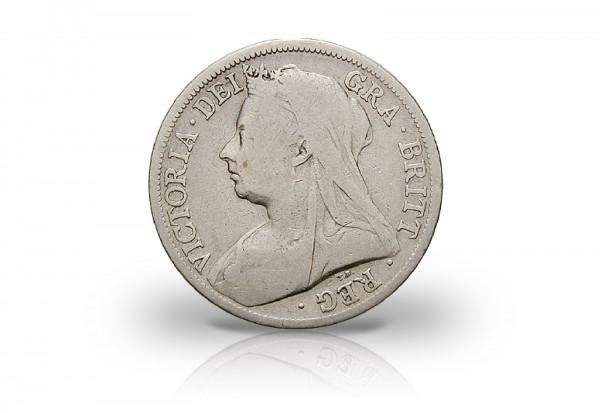 1/2 Crown 1893-1901 Großbritannien Queen Victoria mit Schleier