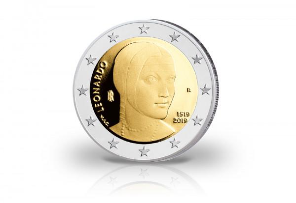 2 Euro 2019 Italien 500. Todestag Leonardo da Vinci