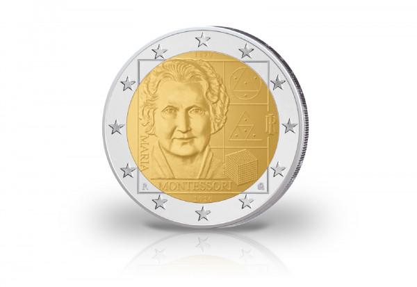 2 Euro 2020 Italien 150. Geburtstag von Maria Montessori