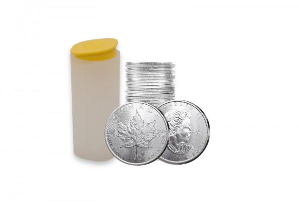 Maple Leaf 1 oz Silber 2021 Kanada im 25er Tube Spar-Set