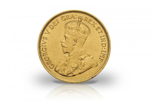 10 Dollars Goldmünze 1912-1914 Kanada George V.
