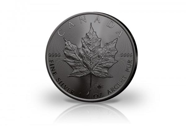 Maple Leaf 1 oz Silber 2021 Kanada veredelt mit Ruthenium
