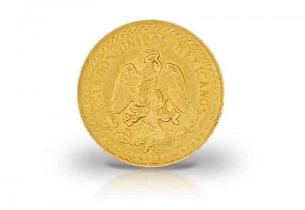 2,5 Pesos Goldmünze Mexiko Freiheitskampf Hidalgo