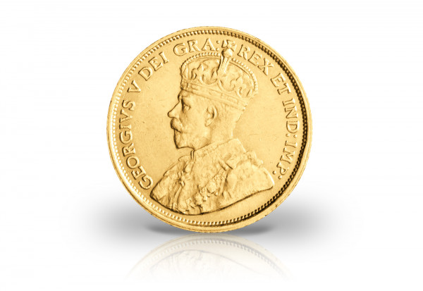5 Dollar Goldmünze 1912 bis 1914 Kanada George V.