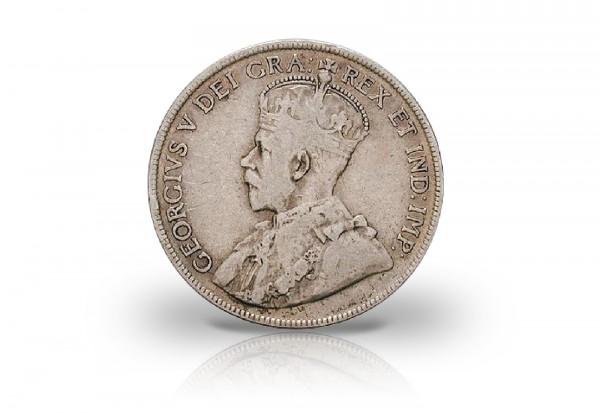 50 Cents 1911-1919 Kanada George V. gekrönte Büste